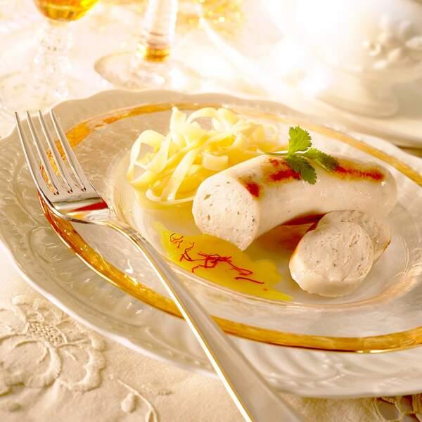 Boudin blanc sauce au safran