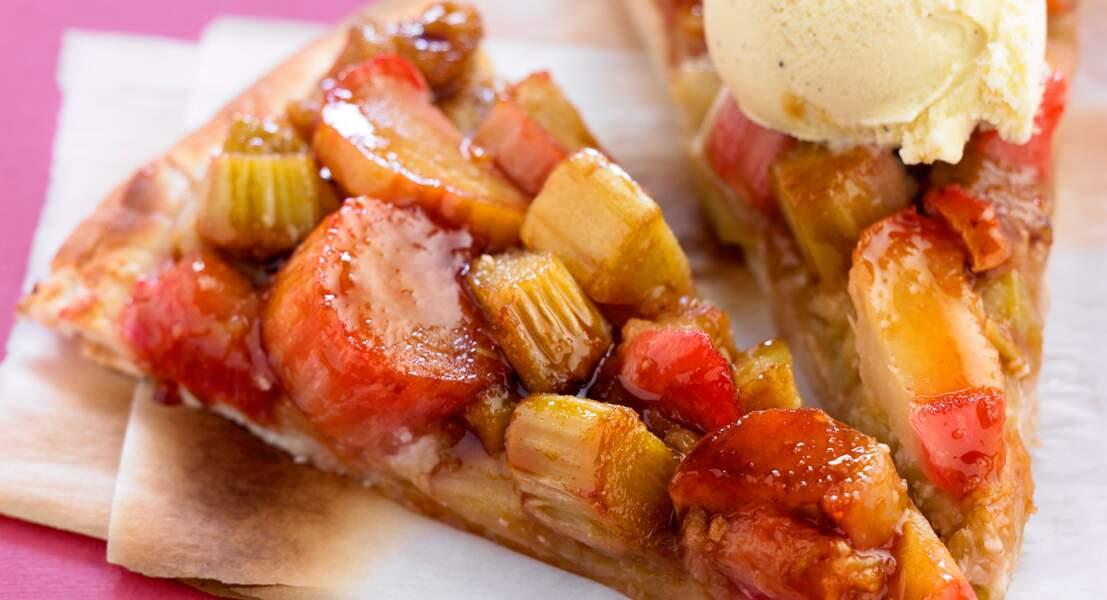 Pizza à la rhubarbe