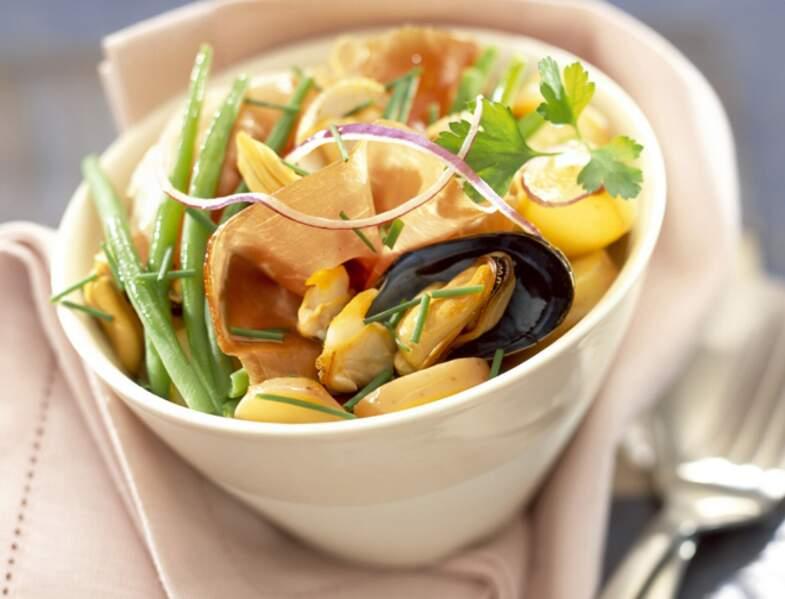 Moules en salade