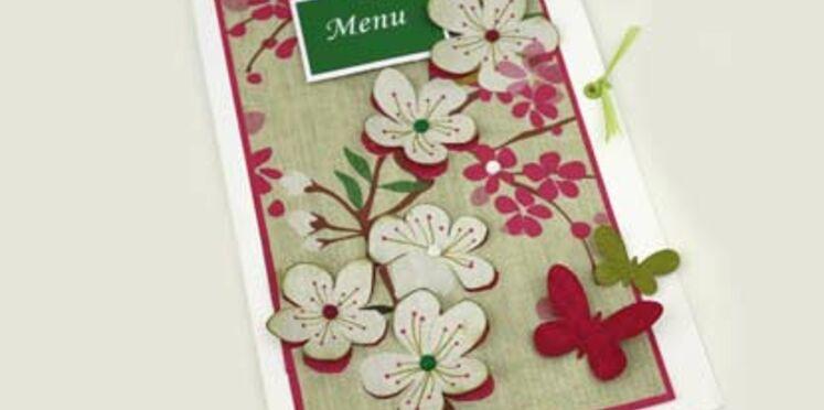 Réalisez un menu de table japonisant