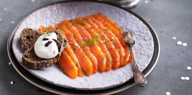 Gravlax de saumon, fine crème au mascarpone