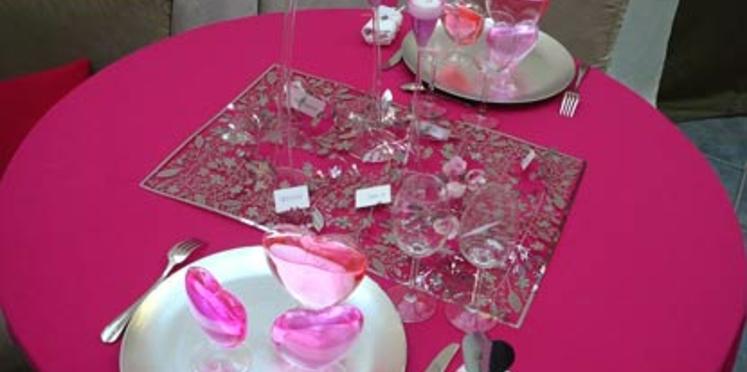 Une table de fête pour la Saint Valentin