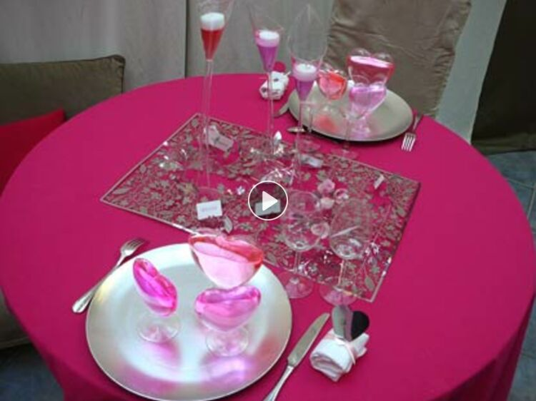 Une Table De Fête Pour La Saint Valentin Conseils En Vidéo Femme