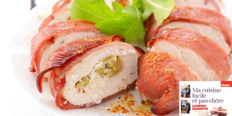 Chaussons de poulet au chèvre et au bacon