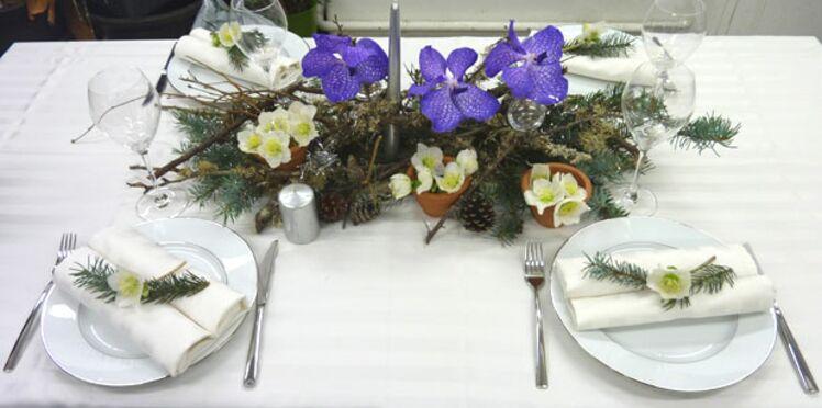 Décoration : une table de réveillon nature
