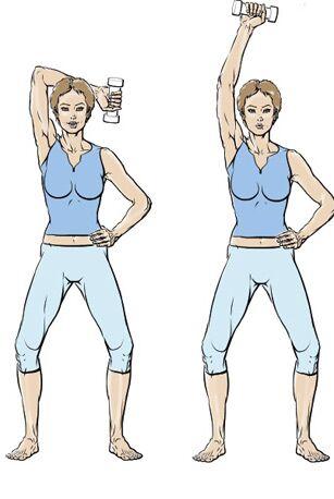 5 exercices pour muscler ses bras   Femme Actuelle Le MAG 75c3fc641a8