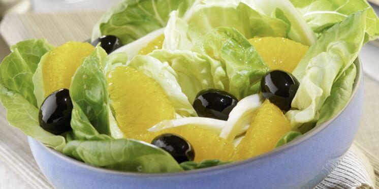 Salade d'oranges confites