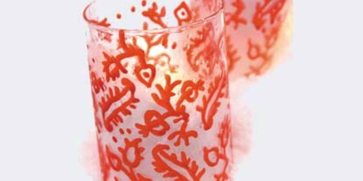 De jolis verres à motifs