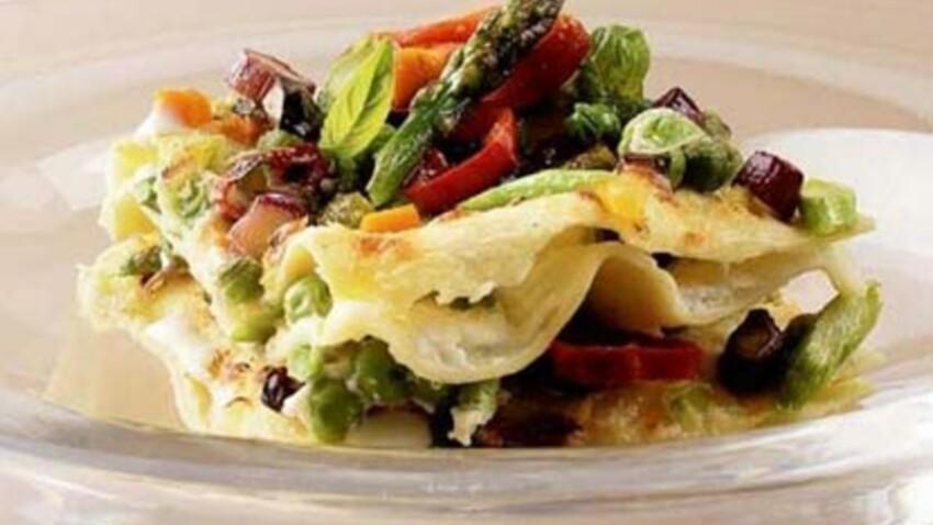 Lasagnes gratinées aux légumes