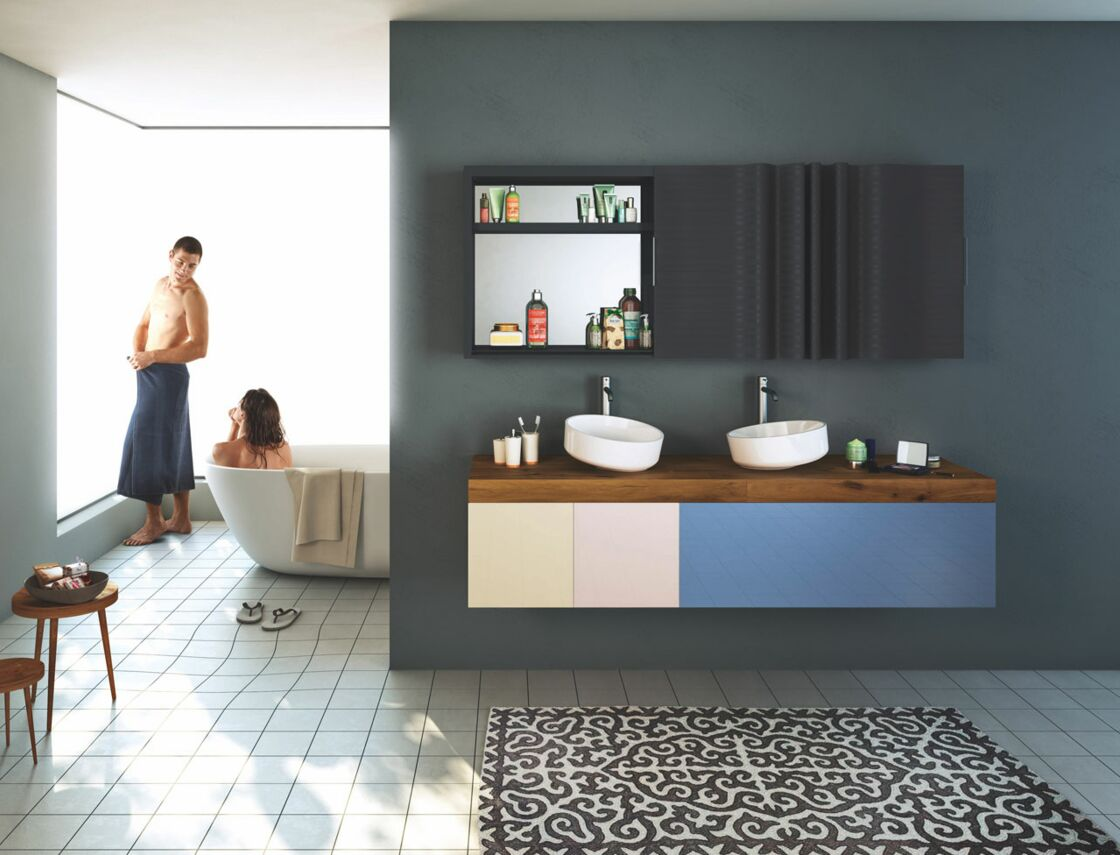 Salle de bains les derni res tendances femme actuelle le mag - Salle de bain idee couleur ...
