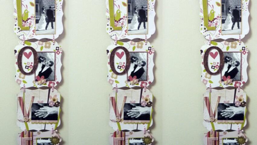 Réaliser un cadre photo en quadryptique pour la Saint-Valentin