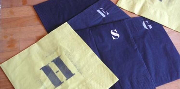 Des serviettes en papier personnalisées pour ma table