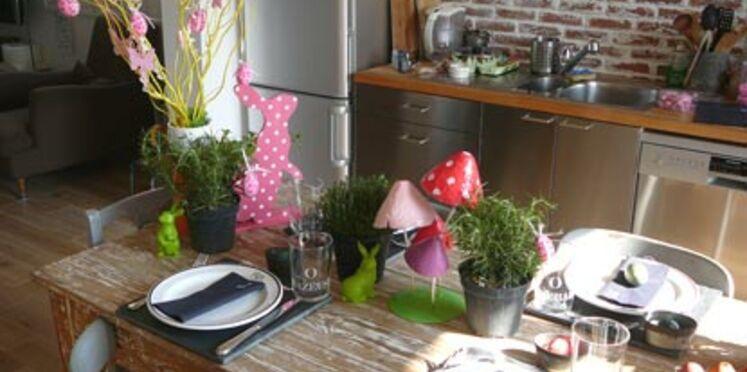 Une ambiance rustique chic pour ma table de Pâques