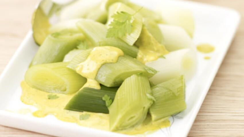 Salade de poireaux à la crème de curry