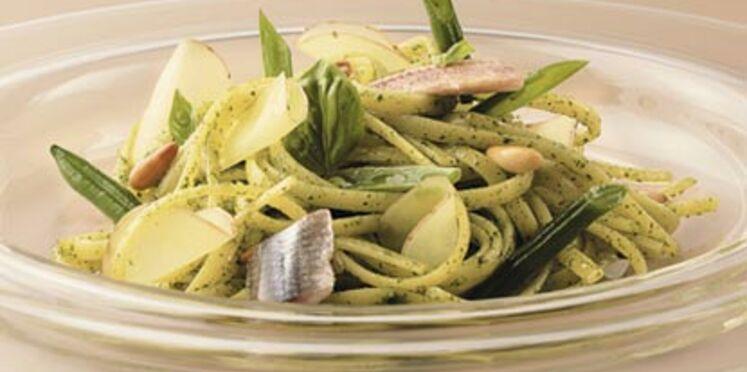 """Linguine """"Al Pesto"""" de Gênes"""