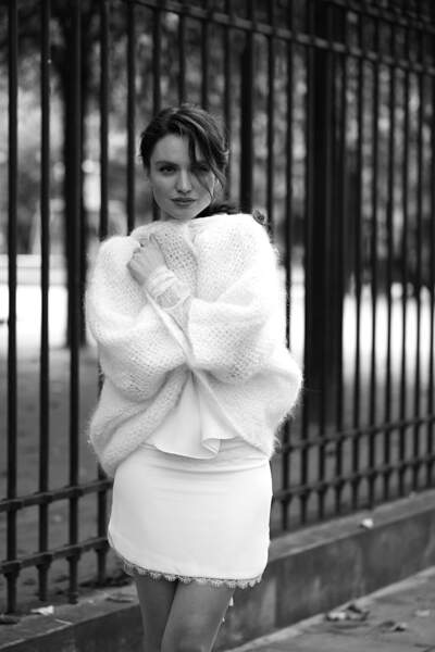 Mariage en hiver : Gilet Shadow par Sophie Sarfati