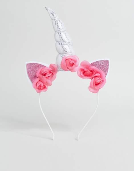 Serre-tête licorne à fleurs