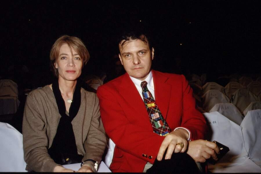 Françoise Hardy et Jean-Charles de Castelbajac au défilé Courrèges en 1994.