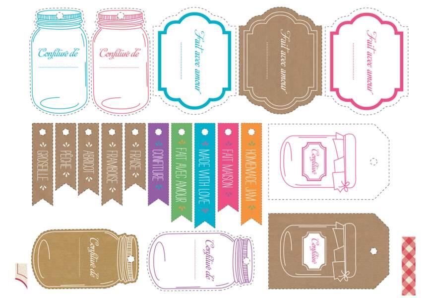 Des étiquettes pour mes bocaux