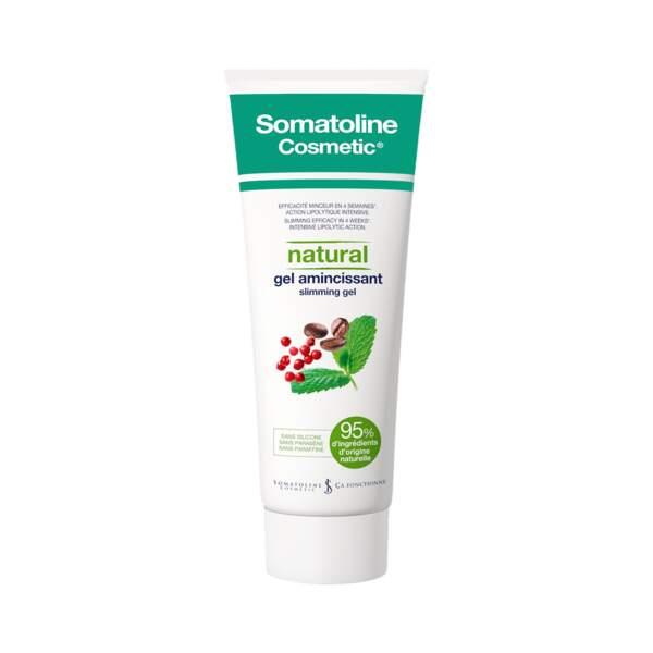 Natural - Gel Amincissant, Somatoline Cosmetic, tube 250 ml, prix indicatif : 35,90 €