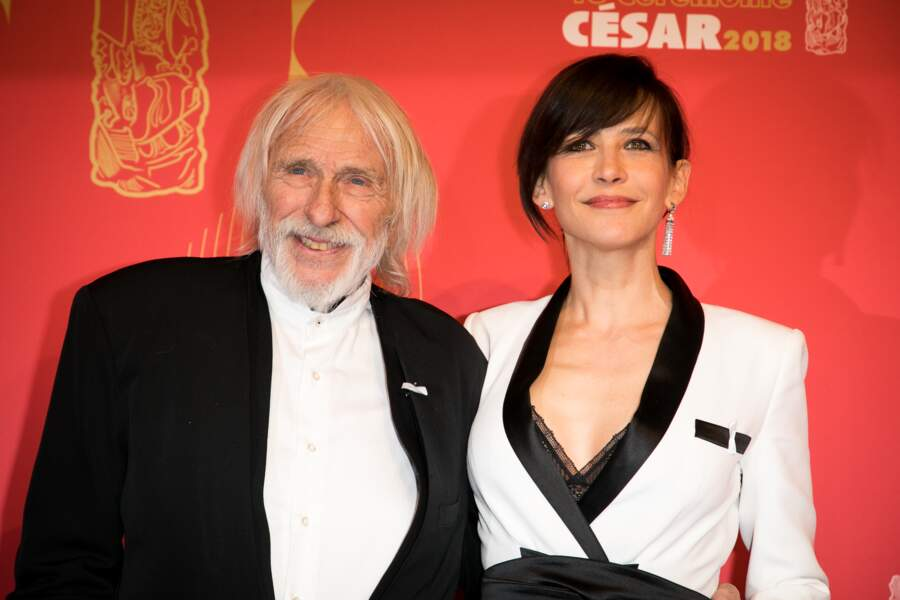 Sophie Marceau et Pierre Richard à la 43ème cérémonie des César en mars 2018.