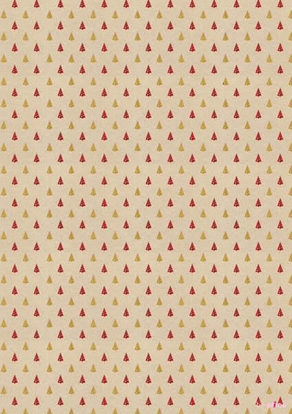 Papier à imprimer motif petits sapins