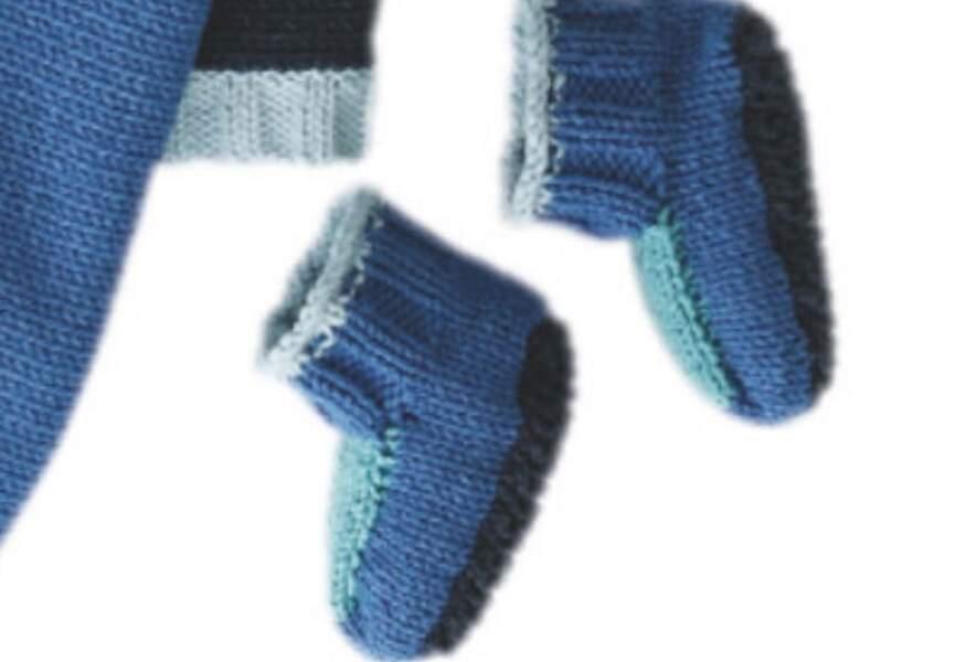 Des chaussons bleus