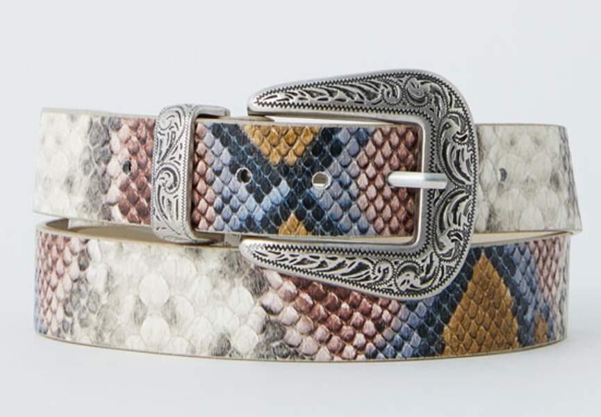 Tendance python : ceinture