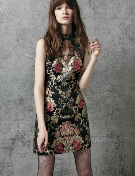 Tenue de soirée : la robe en brocart