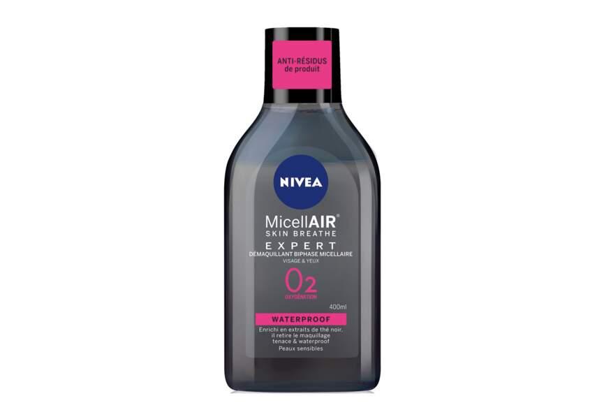 Le démaquillant biphase micellaire Skin Breath MicellAIR O2 oxygénation Nivea