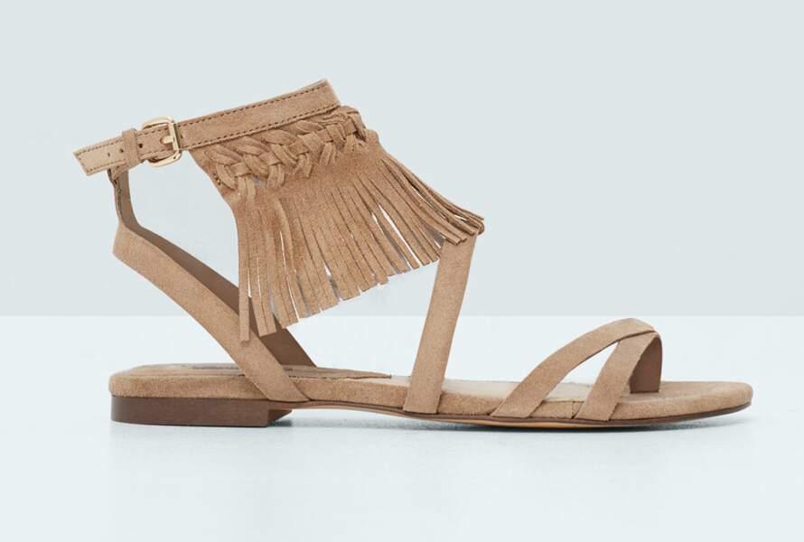 Sandales frangées