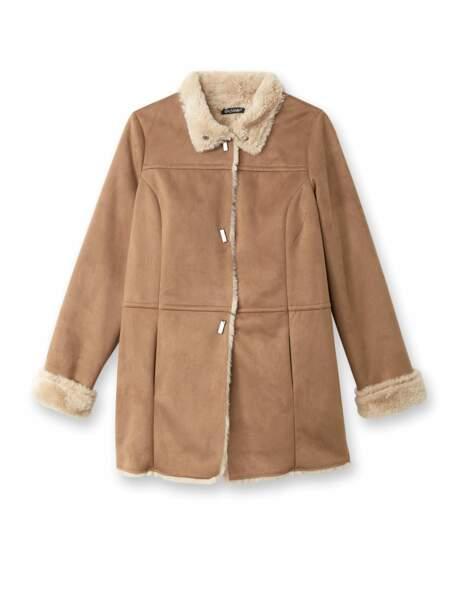 Le manteau peau lainée