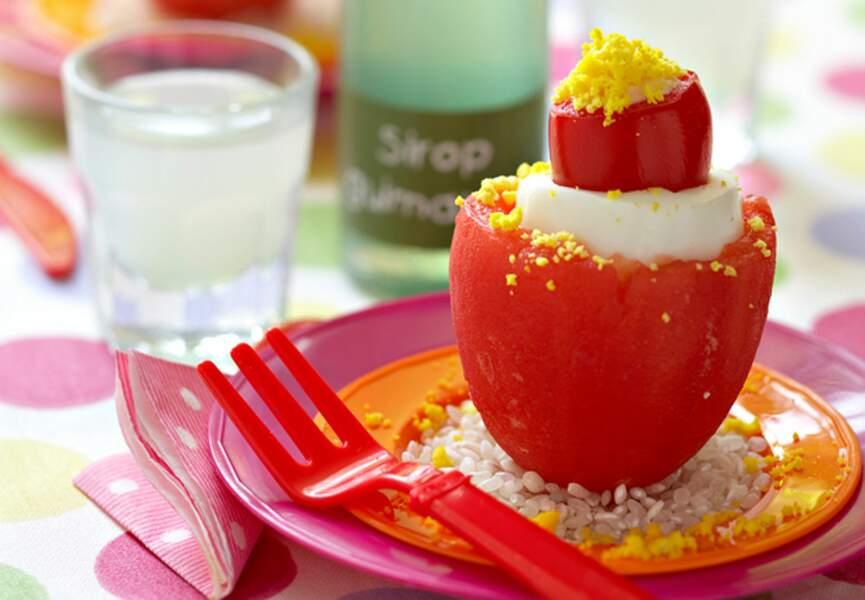 Tomates et œufs au thon