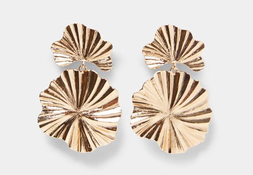 Nouveautés Zara: les boucles d'oreilles feuilles