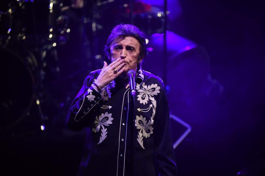Dick Rivers en concert au théâtre Lino Ventura à Nice le 15 décembre 2018, l'une de ses dernières apparitions.