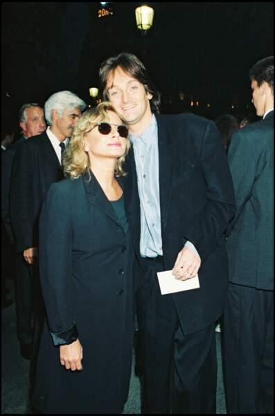 """Véronique Sanson et Pierre Palmade lors de la première du """"Hussard sur le toit"""" en 1995."""