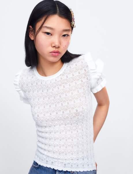 Zara: le pull à volants