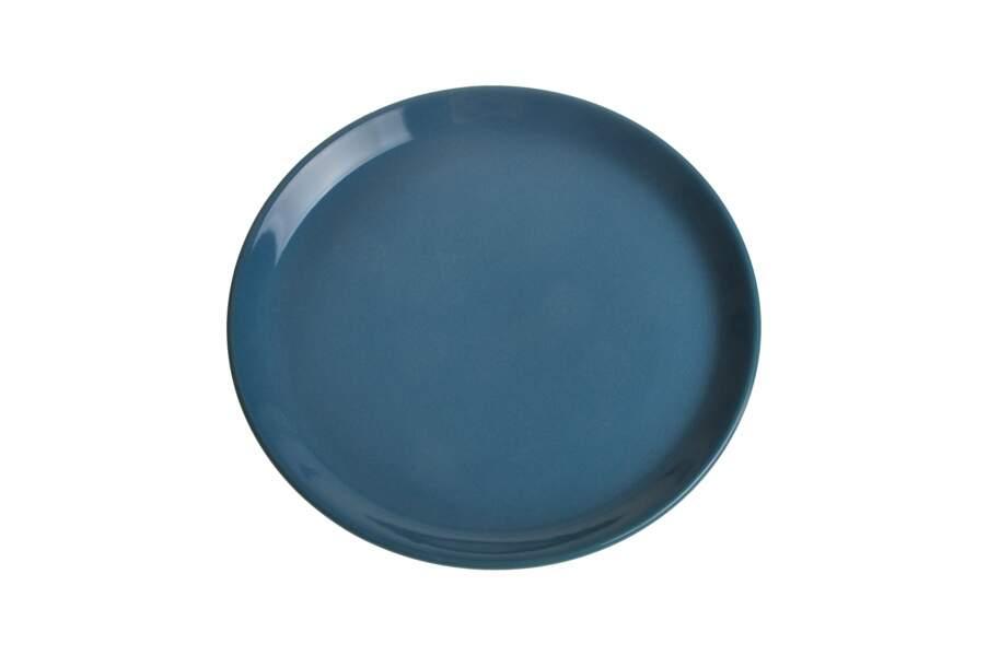 Assiette plate en faïence