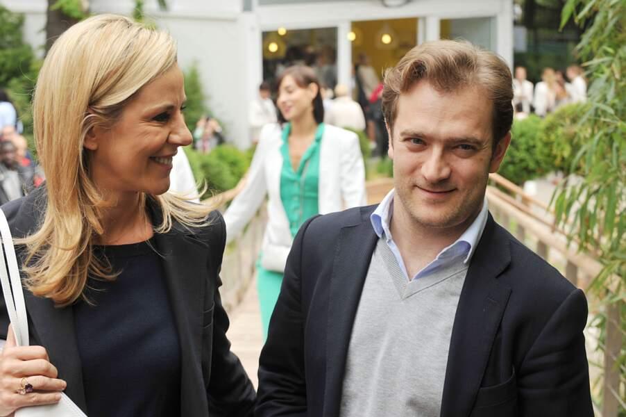 Laurence Ferrari et son mari Renaud Capuçon au village des Internationaux de tennis de Roland Garros (2014)