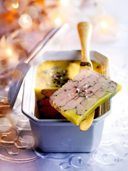Foie gras mi-cuit sel et poivre