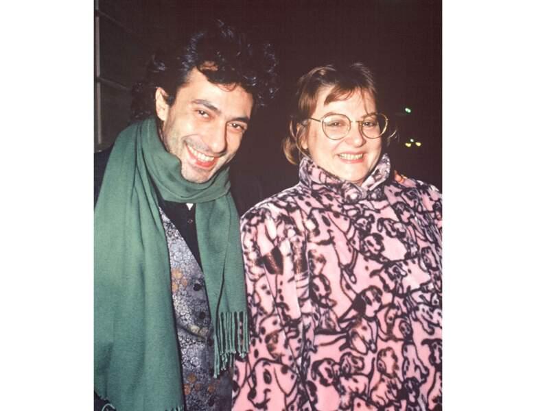 À 40 ans (1990), elle pose avec Philippe Berry