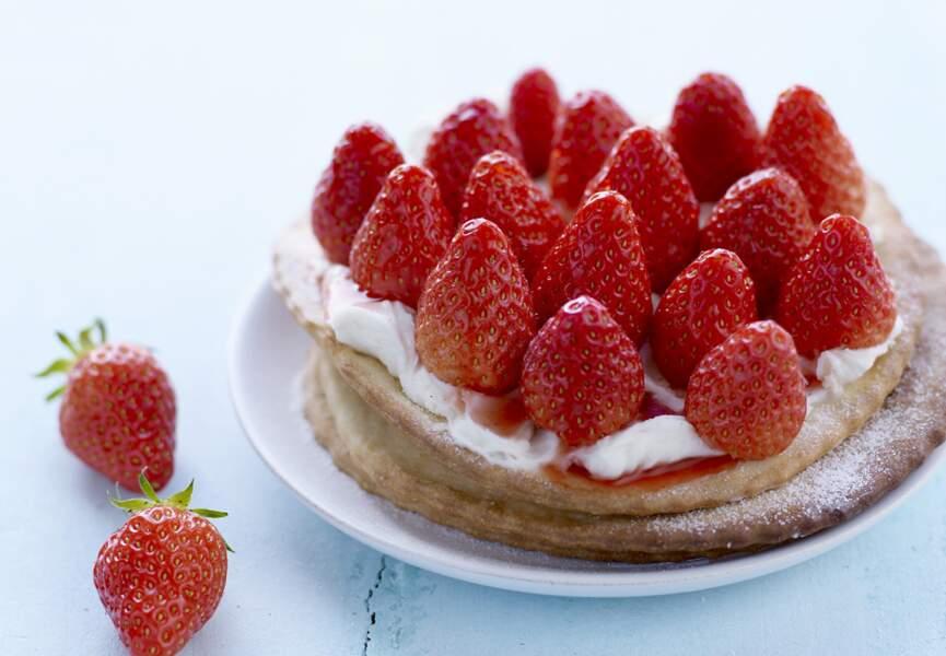 Tarte fine aux fraises