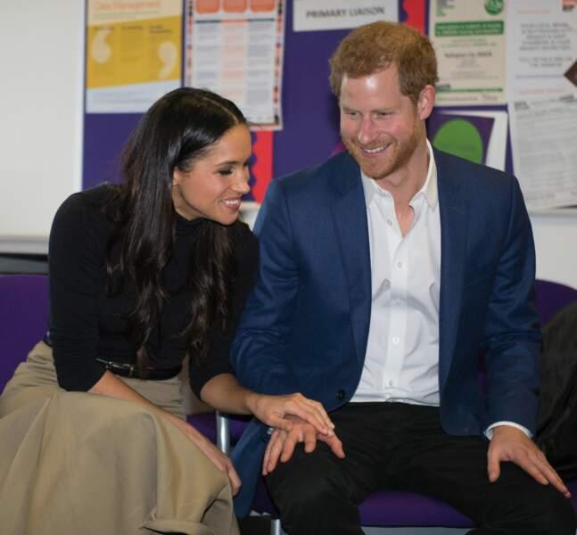 Le prince Harry et Meghan Markle à Nottingham en décembre 2017