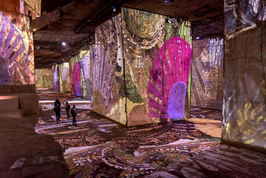 Projection numérique sur la pierre de Provence