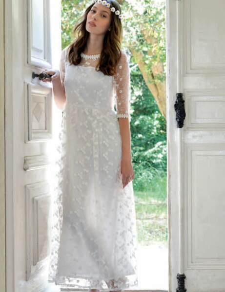 Robe blanche : romantique
