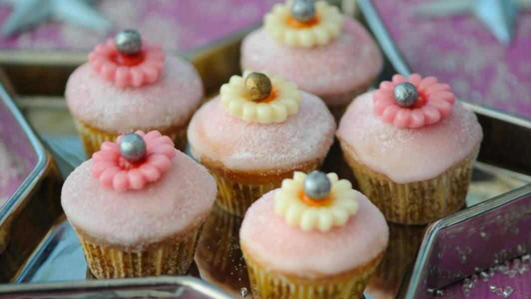 Cupcakes givrés à la rose
