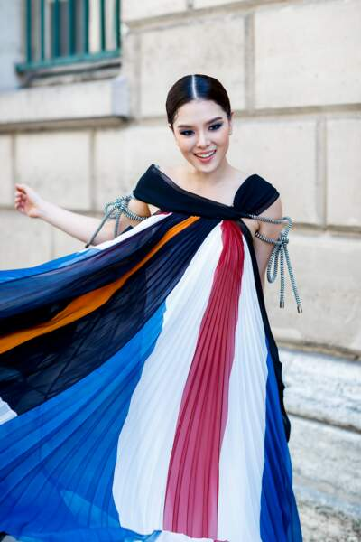 Fashion Street Style : la robe plissée couture