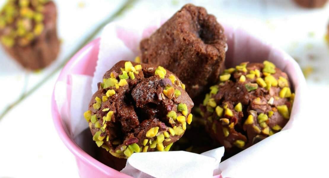 Mini-muffins chocolat-pistache pour le goûter