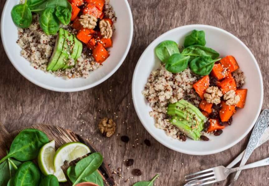 Quinoa corail aux épices et légumes