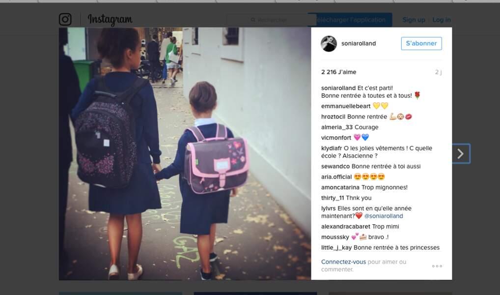 Tess, 9 ans, et Kahina, 5 ans et demi, sont les véritables petites filles modèle de Sonia Rolland